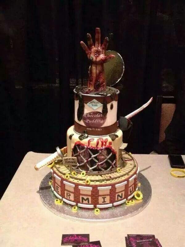 Walking Dead cake!