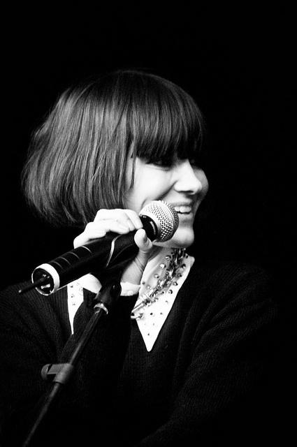 Pernille Rosendahl from a 'The Storm' concert in Røvovre Centrum