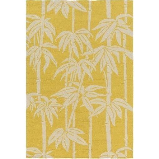 Wonderful Bondi Yellow Tropical Outdoor Rug