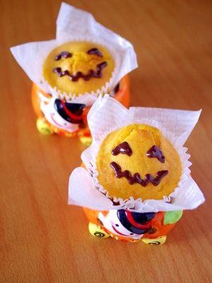 かぼちゃの豆乳カップケーキ☆HMで簡単ハロウィン レシピ・作り方 by めろんぱん@めろんカフェ 楽天レシピ