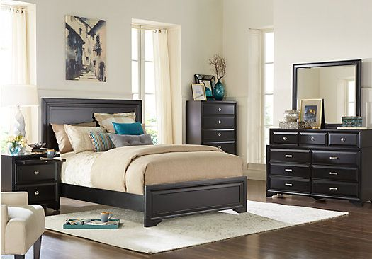 Belcourt Black 5 Pc King Panel Bedroom . $949.99.  Find affordable Bedroom Sets for your home that will complement the rest of your furniture.