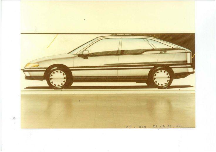 OG | 1993 Citroën Xantia - Project S1 | Bertone render dated 1985