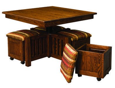 5 Pc Square Table & Bench Set