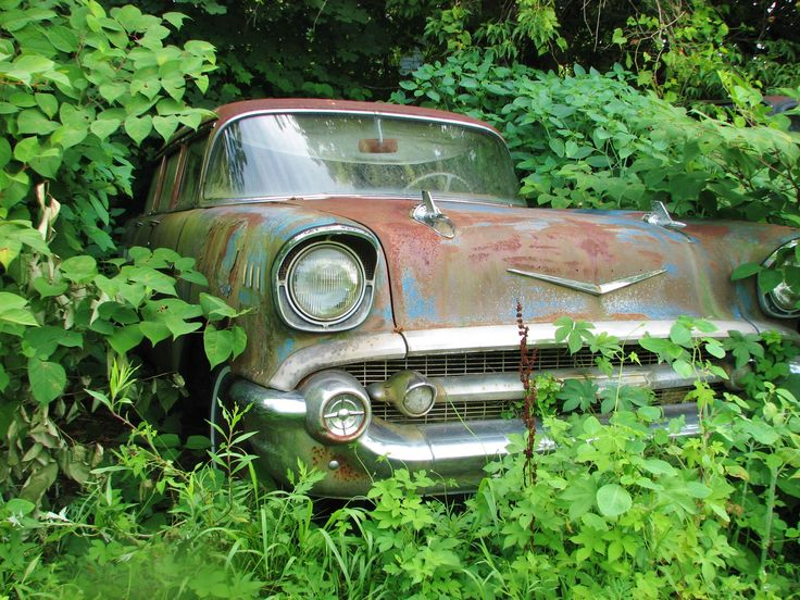 57 chevy Barn find cars, Junkyard cars, Vintage cars 1950s
