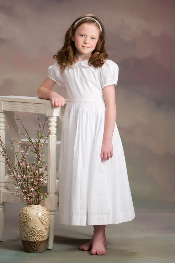 Communion Dress  smocked and embroidered by SavannahChildren