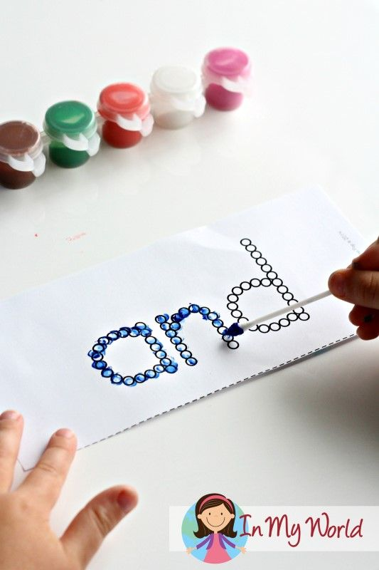 Sight Words Q-Tip activity FREE. A fun fine motor activity to help learn new sight words.