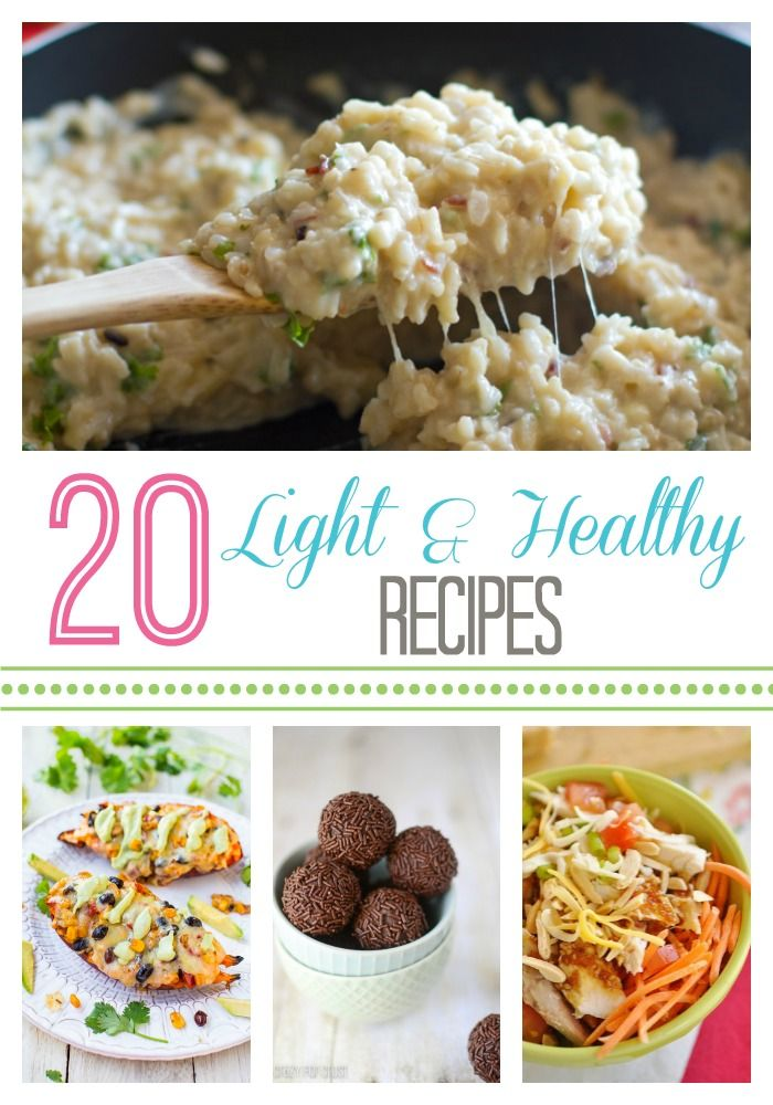 20 Light & Healthy Recipes ~ A great round up of light and healthy recipes to help you out with that goal to eat more healthy