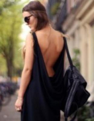 Love Label Black Drape BackDress