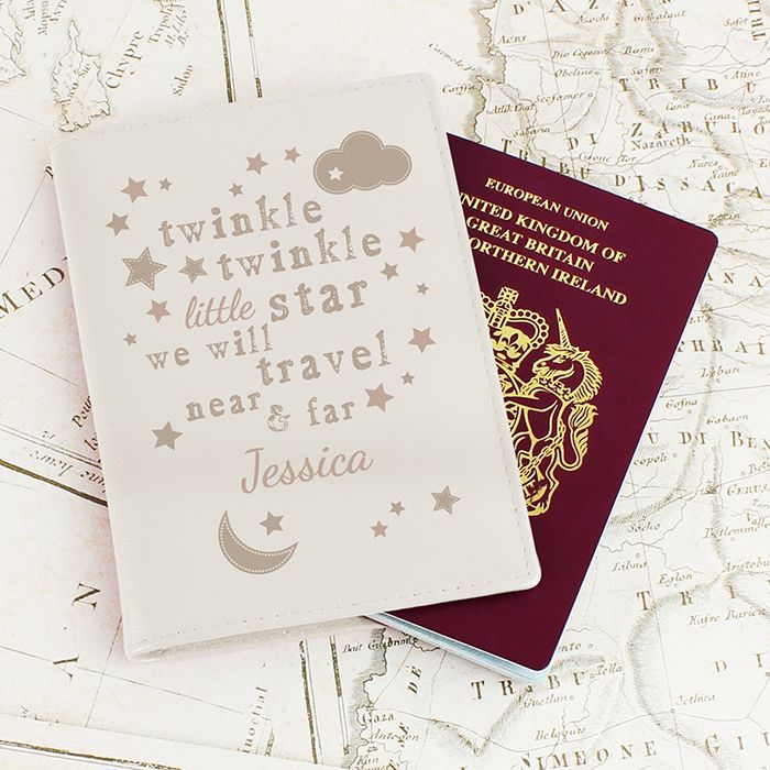 35 best personalised gifts for babies images on pinterest baby personalised twinkle twinkle cream first passport holder new baby child gift negle Images