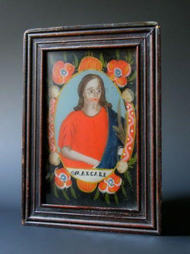 Fix sous verre sainte margare alsace 18eme peinture sous verre pinterest - Fixe sous verre ancien ...