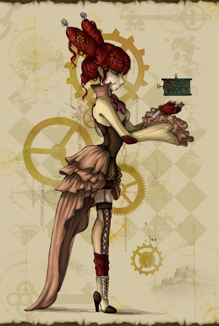 Steampunk+Princess+by+Ai-Lilith.deviantart.com+on+@