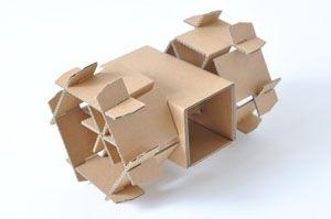 amazonのダンボール箱を使ってつくる夏休みの工作 車輪【マゴクラ】ダンボールインテリア生活