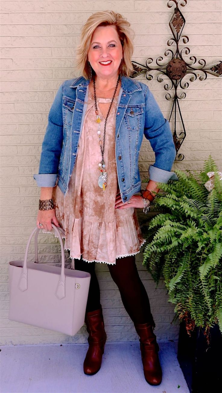 50 IS NOT OLD | BEING HANDKERCHIEF READY | Transition Outfit | Fall Outfit | Denim Jacket | Fashion over 40 for the everyday woman