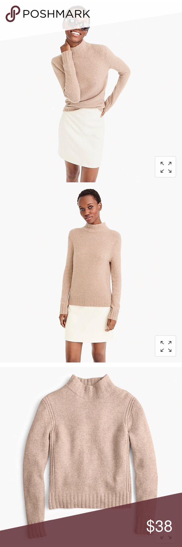 NWT Jcrew Mockneck Sweater Beige Color: Heather Mushroom  The color does not com…