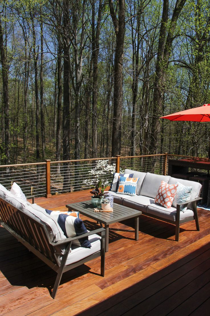 Outdoor patio furniture shade - Outdoor D Cor Ideas Deck Railing Ideas Stainless Steel Cable Railing Deck Ipe Deck