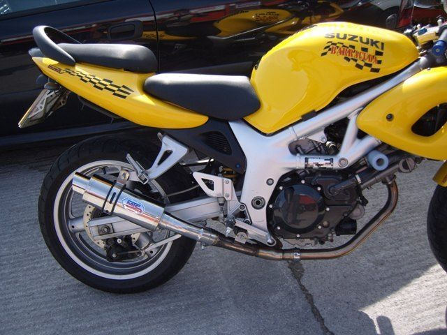 Suzuki SV650 1998- 2002 Polished Stainless GP PRO RACE Exhaust #MaxTorqueCans