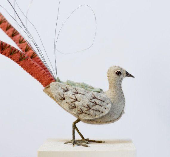 Original Lyrebird Australian bird art native by FantailsAndFeet