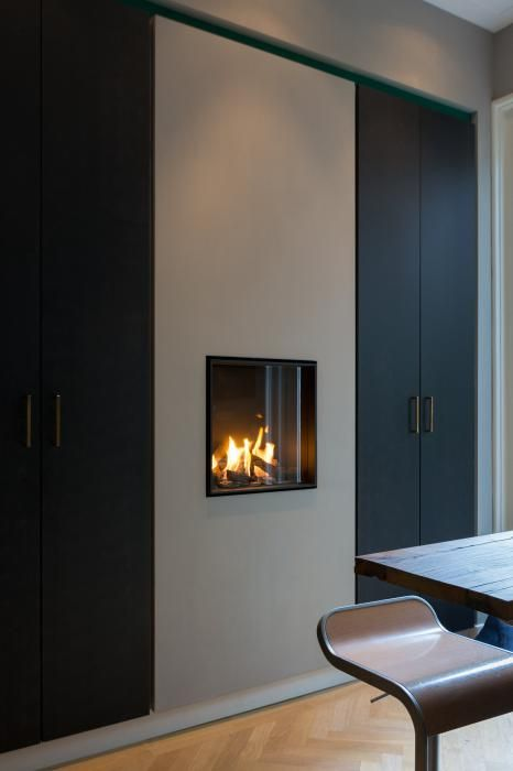 10 images about moderne inbouw haard on pinterest modern fireplaces models and tvs - Moderne keukentafel ...