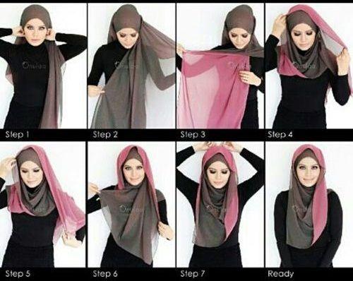 My Hijab   Two Colors Hijab Tutorial