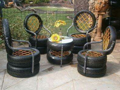 25 best ideas about tire furniture on pinterest tyres for Tyre furniture