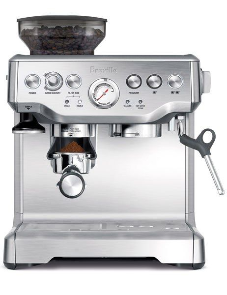 Breville Barista Express BES870XL. One of our 15 favorite coffee makers and accessories.