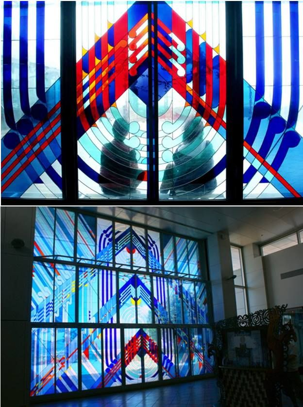 Te Papa stained glass