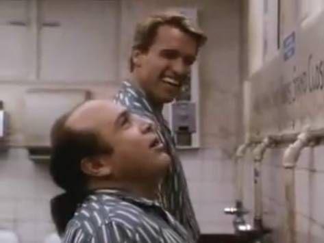 Twins 1988 Arnold Schwarzenegger and Danny Devito