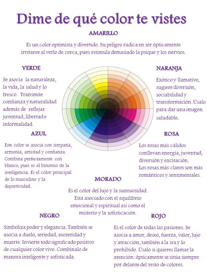 Dime de qué color te vistes...