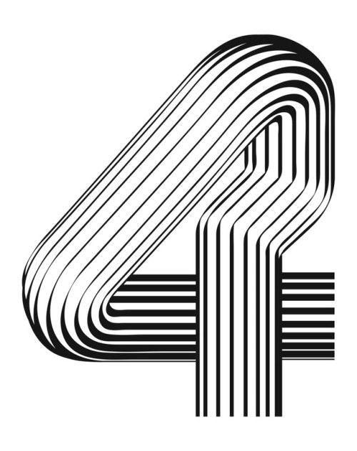 Alex Trochut / Numbers / 4 / Typography / 2016