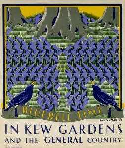 Bluebell time in Kew Gardens underground poster by Margaret Calkin James, 1931