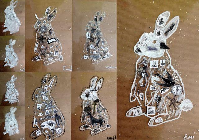 les petites têtes de l'art: Le lapin du pays des merveilles