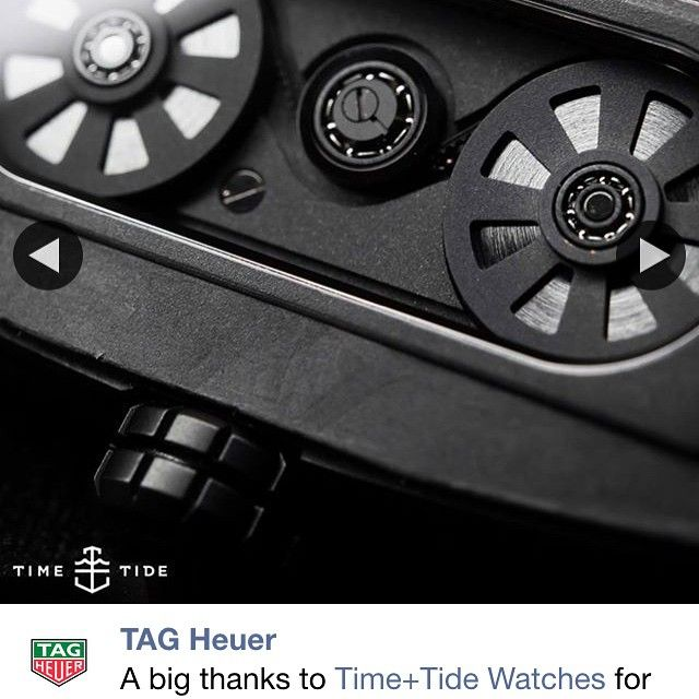 Great way to wake up, seeing this black beast / beauty on @tagheuer in all its glory. Step aside Ulysses Nardin this would be our Nights Watch. ️ #tagheuer #monaco #v4