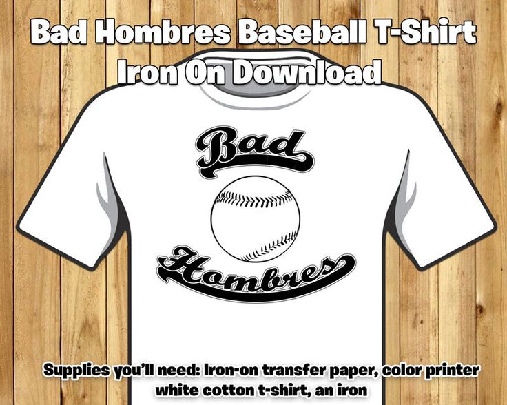 Bad Hombres T-Shirt Iron-On Transfer - US Presidential Election 2016 - Trump Quote Tshirt Election 2016 Bad Hombres baseball team tshirt by instbirthday on Etsy