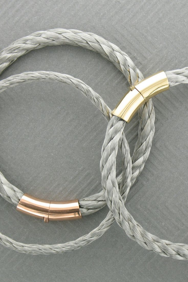 Simple silver cable bracelets with your choice of gold or rose gold clasps! ⠀