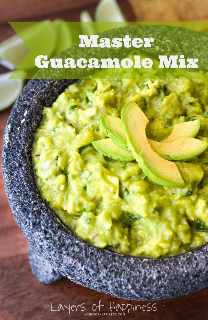 BEST Guacamole Master Mix - Ready in 10 minutes!