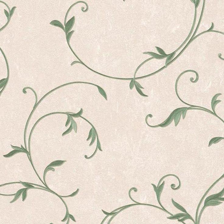 A.S. Création | 30418-5 tapety na zeď Romantica 3  | 0,53 x 10,05 m | béžová, zelená, metalická