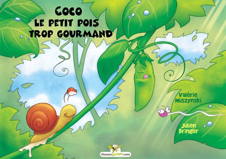 Coco est un petit pois très gourmand, tellement gourmand qu'il mange tout le temps. Tout le met en appétit ! Un escargot, un papillon, de savoureux petits légumes... Bref, vous l'avez compris, il mange tout ce qu'il voit ! Et même ceux qui sont plus gros que lui ! Alors, me direz-vous, il va éclater comme la grenouille qui voulait se faire plus grosse que le bœuf de Monsieur de La Fontaine ? Pas du tout…