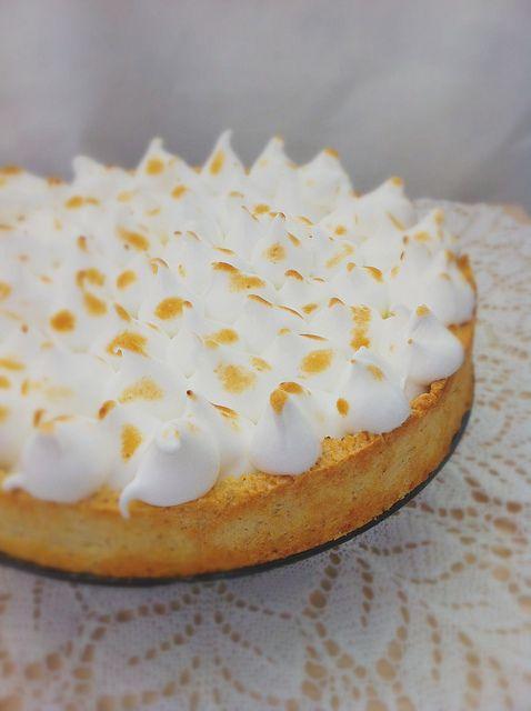 Лимонный тарт с итальянской меренгой