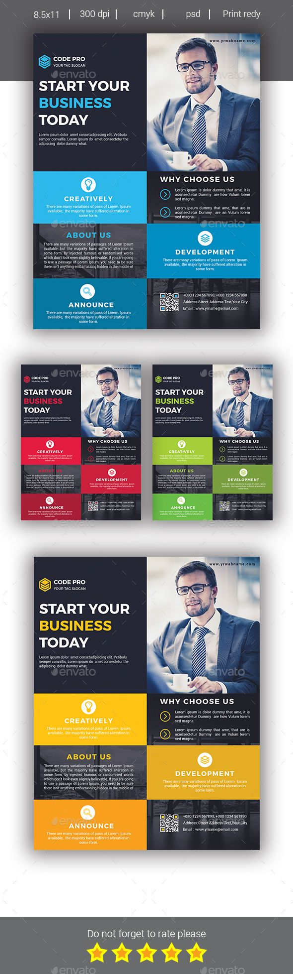 Corporate Business Flyer Template PSD. Download here: https://graphicriver.net/item/corporate-business-flyer/17435763?ref=ksioks