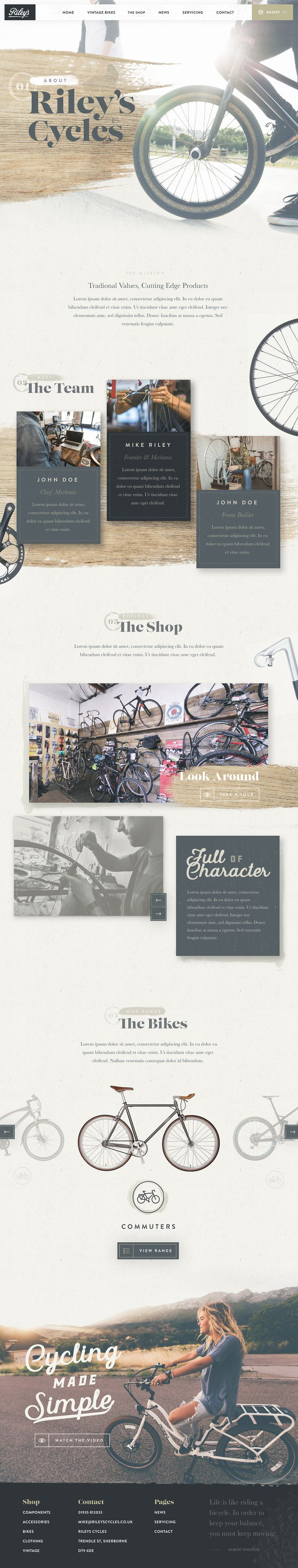Riley's Cycles About Page by Nathan Riley for Green Chameleon