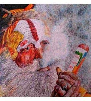 Sadhu 2 Painting by Deepak Deshmukh