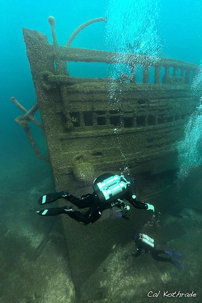 Shipwreck of the Eber Ward in Lake Michigan