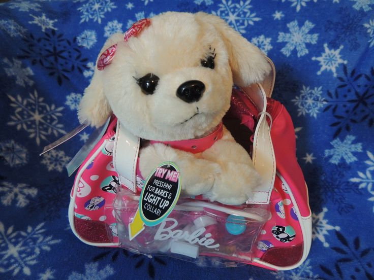 Barbie Kiss & Care Pet Doctor Dr Puppy Blonde Dog Toy 9pc Vet Set Carry Case New
