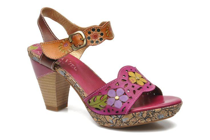 Laura Vita Salama (Multicolore) - Sandales et nu-pieds chez Sarenza (209222)