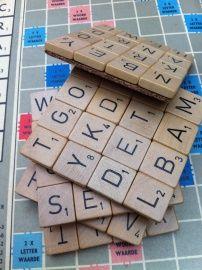 Scrabble onderzetter