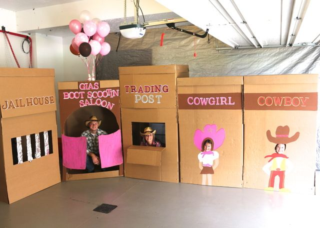 Cowboy and Cowgirl / Birthday  Perfect for Photo Booths