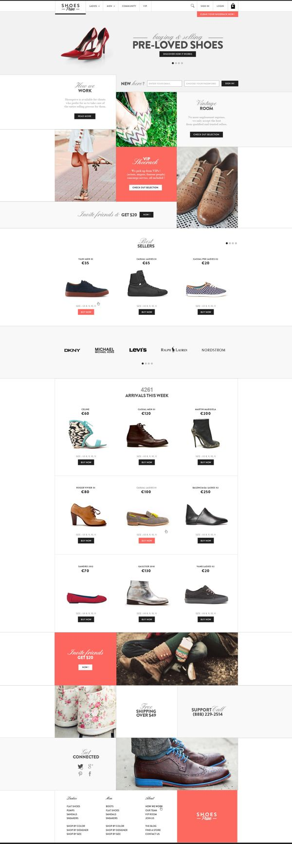 Web | Shoesprive Concept