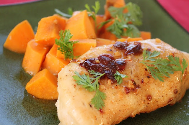Spiced Chipotle Honey Chicken with Sweet Potatoes