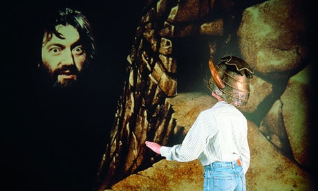 'Enter, stranger....' this pins to an article sharing how they made Knightmare, an 80s TV virtual adventure game for kids