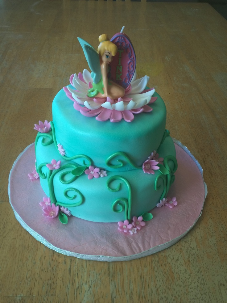 Tinkerbell And Fawn Cake